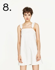 zara white summer dress