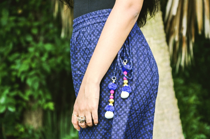blue indian palazzo pants rings