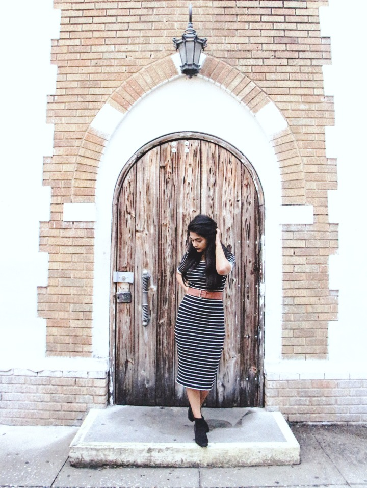 pretty doorway striped dress